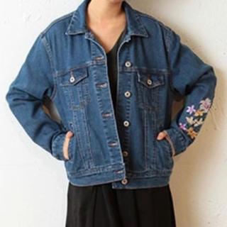スパイラルガール(SPIRAL GIRL)のSPIRALGIRL 刺繍デニムジャケット(Gジャン/デニムジャケット)