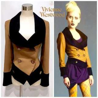 Vivienne Westwood - タグ付き ヴィヴィアンウエストウッド バイカラー ジャケット