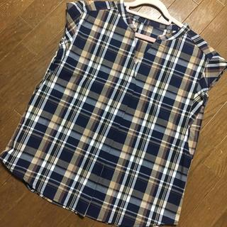 ジーユー(GU)のGU チェックブラウス(シャツ/ブラウス(半袖/袖なし))