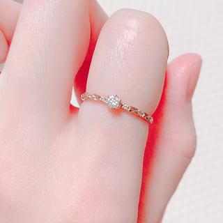 サマンサティアラ(Samantha Tiara)の今月末まで♡美品♡サマンサティアラ♡ダイヤモンドリング(リング(指輪))