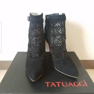 ルシェルブルー(LE CIEL BLEU)のTATUAGGi タトゥアッジ ショートブーツ 35(ブーツ)