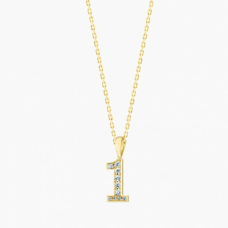 アイファニー(EYEFUNNY)のeyefunny ダイヤモンド ナンバー ネックレス(ネックレス)