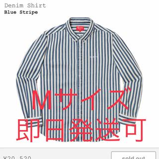 Supreme - Mサイズ supreme Denim Shirt ブルーストライプ