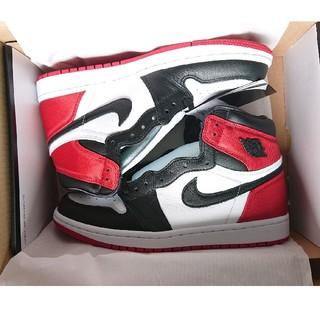 NIKE - Nike Air Jordan 1 Black Toe Satin サテン