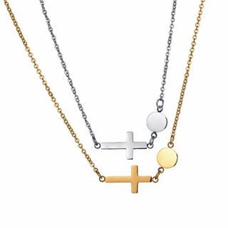 横クロス ステンレスネックレス ステンレスチェーン クロスネックレス(ネックレス)