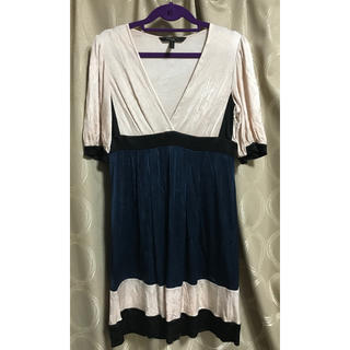 ビーシービージーマックスアズリア(BCBGMAXAZRIA)のビーシービージーマックスアズリア ドレス ワンピース BCBGマックスアズリア(ひざ丈ワンピース)