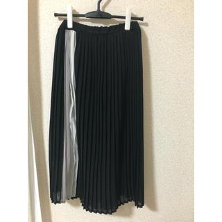 メルロー(merlot)のサイドライン プリーツスカート(ひざ丈スカート)