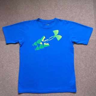 アンダーアーマー(UNDER ARMOUR)の☆UNDER ARMOUR☆ 半袖Tシャツ 160㎝ ブルー 美品(Tシャツ/カットソー)