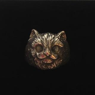 猫 ネコ  キャット シルバー リング 10号(リング(指輪))