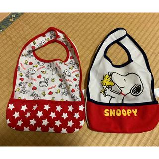 スヌーピー(SNOOPY)の子供 食事用エプロン(お食事エプロン)