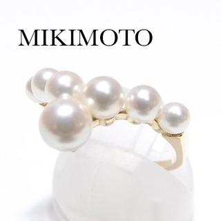 ミキモト(MIKIMOTO)のミキモト 御木本 K18YG アコヤ パール V リング 真珠(リング(指輪))