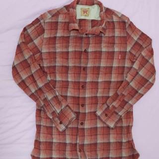 メンズ チェックシャツ 赤(シャツ)