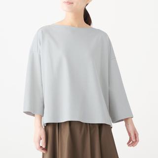 MUJI (無印良品) - 無印良品   新疆綿鹿の子編みボ-ドネックプルオ-バ-  ONE SIZE