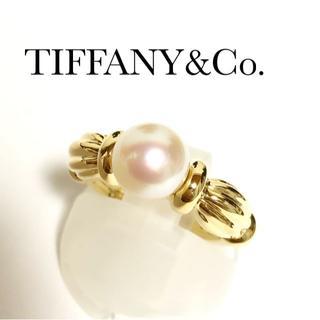 ティファニー(Tiffany & Co.)のティファニー TIFFANY K18YG アコヤパール 7.1mm リング 真珠(リング(指輪))
