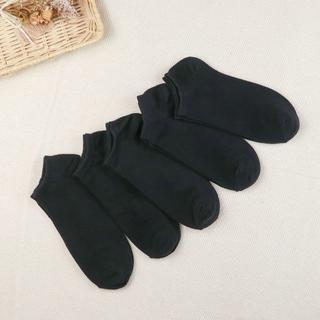 メンズ サイズ26~28 黒靴下 5足セット スニーカー丈 (ソックス)
