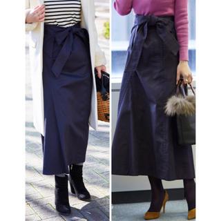 Drawer - 美品  定価46440円 ドゥロワー  ラップ風Aラインロングスカート