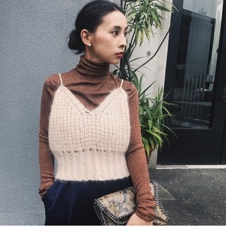Ameri VINTAGE - アメリヴィンテージ MOHAIR KNIT BUSTIER