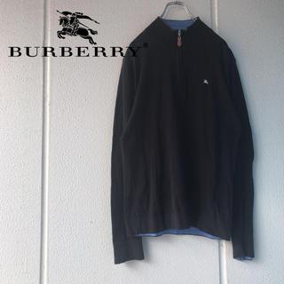 バーバリーブラックレーベル(BURBERRY BLACK LABEL)のBURBERRY ハーフジップスウェットブラックレーベル(スウェット)