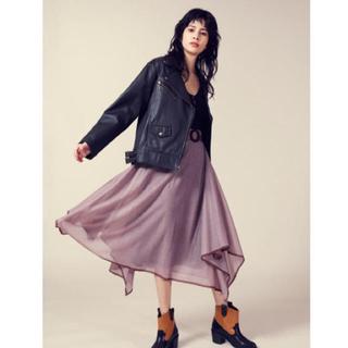 リリーブラウン(Lily Brown)のヘムラインニットスカート (ひざ丈スカート)
