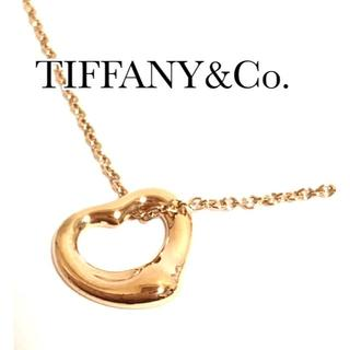 Tiffany & Co. - ティファニー K18PG オープンハート ネックレス ローズゴールド