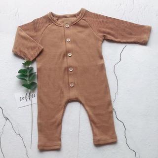 エイチアンドエム(H&M)の新品  カバーオール 韓国子供服 ロンパース ジャンプスーツ 長袖  新生児(カバーオール)