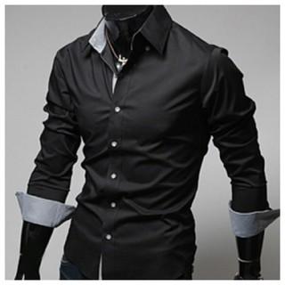 ☆出来る男☆ メンズ シャツ 長袖 ブラック ブルー チェック お洒落(シャツ)