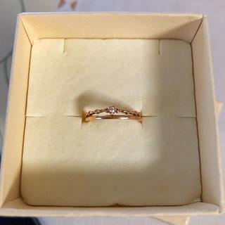 4℃ - k10 ダイヤモンド リング 0.01ct