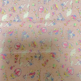 サンリオ(サンリオ)の生地 はぎれ 布  シナモロール  ピンク色(生地/糸)