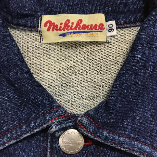 mikihouse(ミキハウス)のミキハウス  90サイズ   デニム風  アウター   キッズ/ベビー/マタニティのキッズ服 男の子用(90cm~)(ジャケット/上着)の商品写真