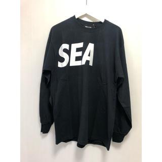 【希少】wind and sea ロングTシャツ ブラック L 新品 ロゴ(Tシャツ/カットソー(七分/長袖))