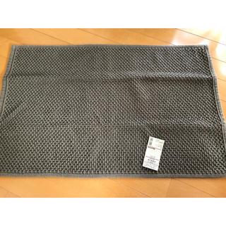 ムジルシリョウヒン(MUJI (無印良品))の【新品未使用】無印良品 インド綿手織パイルバスマットM ブラウン 45×70cm(バスマット)