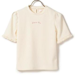リズリサ(LIZ LISA)のリズリサ 刺繍ロゴトップス(カットソー(半袖/袖なし))
