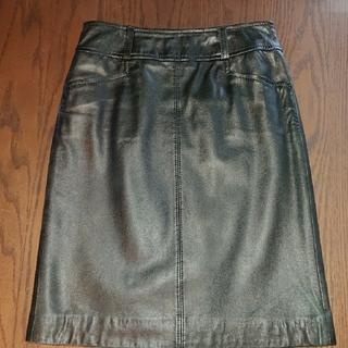 ニジュウサンク(23区)の23区、3号、本皮のスカート(ひざ丈スカート)