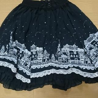 アクシーズファム(axes femme)のアクシーズファム モノクロ街スカート(ひざ丈スカート)