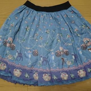 アクシーズファム(axes femme)のAxes femme 花と動物のスカート(ひざ丈スカート)