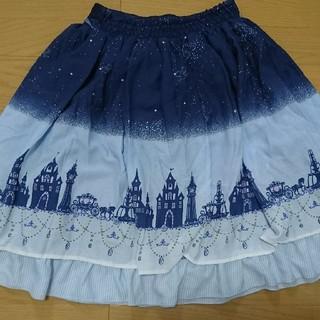 アクシーズファム(axes femme)のAxes femme 星空と街のスカート(ひざ丈スカート)