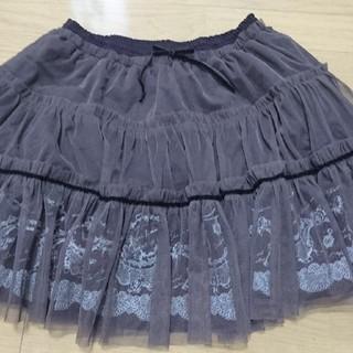 アクシーズファム(axes femme)のAxes femme チュール付きチョコレートスカート(ミニスカート)