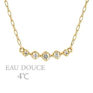 ヨンドシー(4℃)の*EAU DOUCE 4℃*k10YG*ダイヤモンドラインネックレス*(ネックレス)