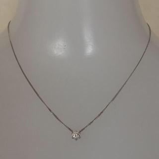プラチナ 一粒ダイヤモンド ネックレス チェーン(ネックレス)
