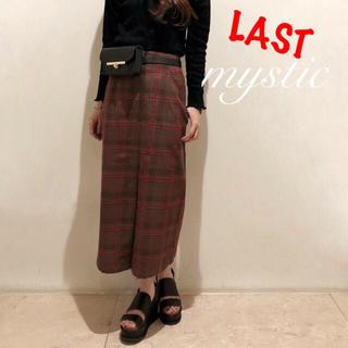 mystic - ラスト⚠️¥8100【mystic】チェックタイトスカート ロングスカート