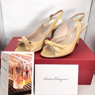 Salvatore Ferragamo - サルヴァトーレフェラガモ リボン ヒール サンダル 靴 正規品