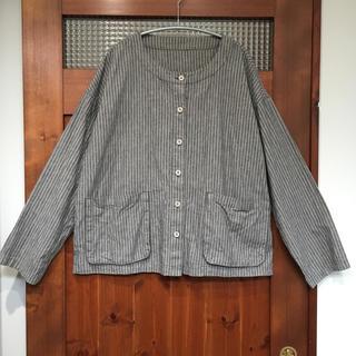 nest Robe - 【送料無料】ネストローブ ノーカラーシャツ 羽織り カーディガン ジャケット