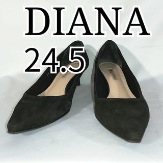 DIANA - 良品 ダイアナ パンプス 24.5cm スエード ブラック