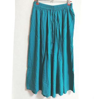 しまむら - ロングスカーチョ 青緑