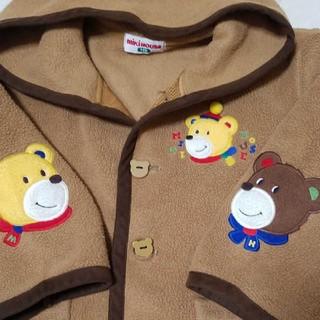 オールド ★ ミキハウス 三角フード クマ ロゴ フリース ジャンパー 100