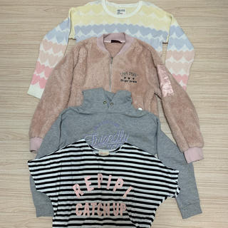 ラブトキシック(lovetoxic)のガールズ   洋服   Sサイズ  4枚セット。ラブトキ、ピンクラテ、レピピ(ニット/セーター)