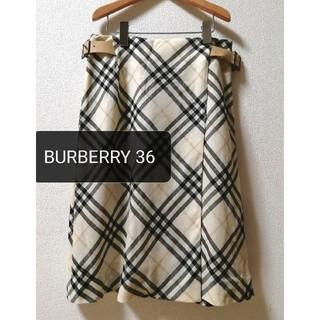 BURBERRY - BURBERRYバーバリー◆ノバチェック柄巻きスカート◆36Mサイズ
