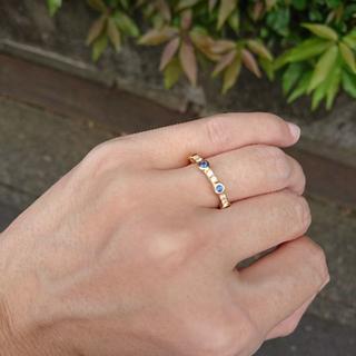 ヨンドシー(4℃)の4℃ k18ダイヤ&ブルーサファイヤリング(リング(指輪))