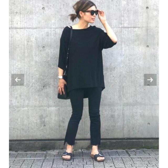 DEUXIEME CLASSE(ドゥーズィエムクラス)のMOTHER BLACK INSIDER CROP ドゥーズィエムクラス レディースのパンツ(デニム/ジーンズ)の商品写真