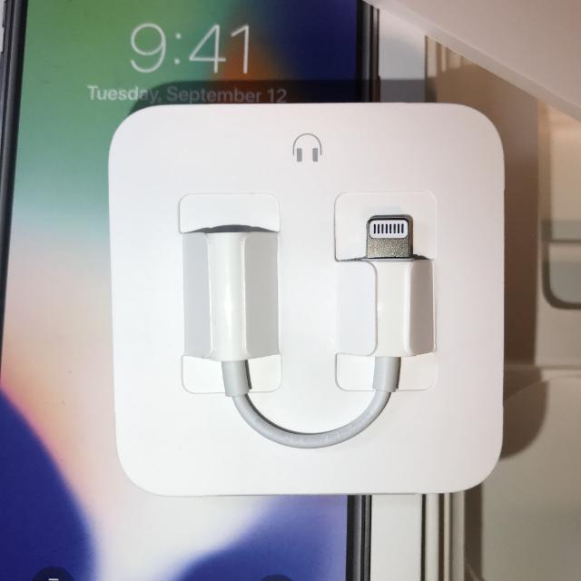 Apple(アップル)のイヤホン交換アダプター スマホ/家電/カメラのオーディオ機器(ヘッドフォン/イヤフォン)の商品写真